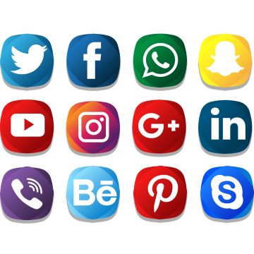 Social Icons PNG Images.