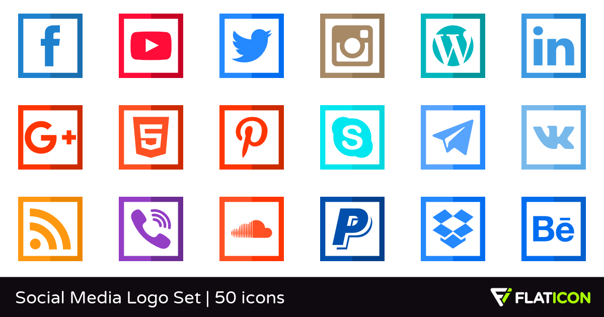 Social Media Logo Set 49 free icons (SVG, EPS, PSD, PNG files).