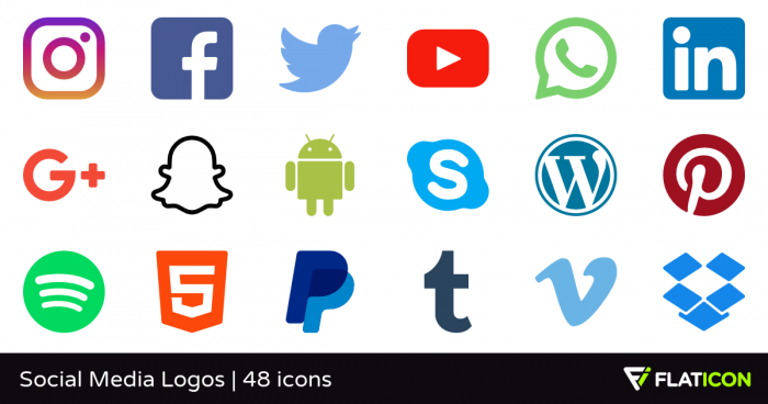 Png Social Icons Vector, Clipart, PSD.