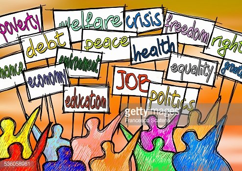 Social issues concept image. Clipart Image.