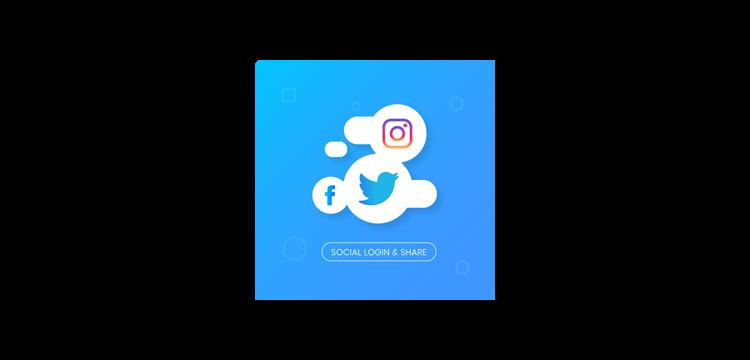 Social Login & Share.