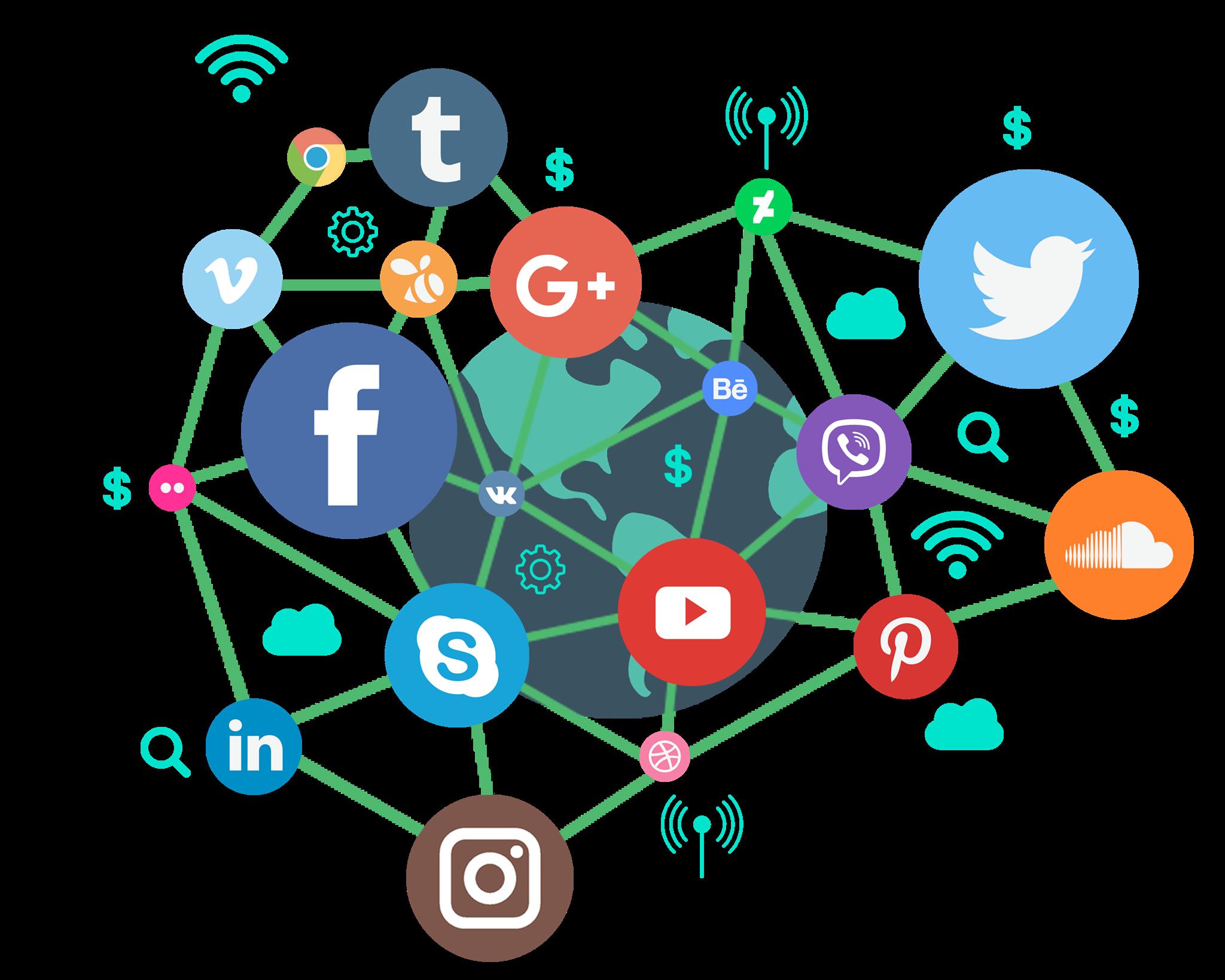Social media marketing Digital marketing Social network.