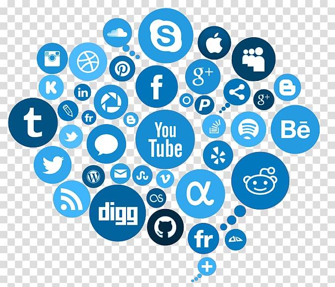 Social media logo, Social media marketing Advertising.