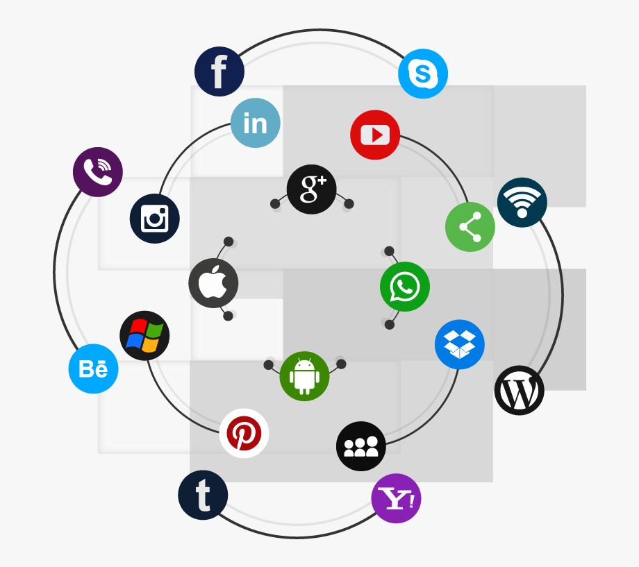 Social Media Marketing Company Banner , Transparent Cartoon.