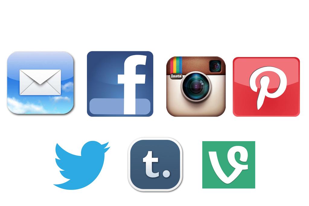Generic social media clipart.