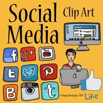 Social Media Clip Art.