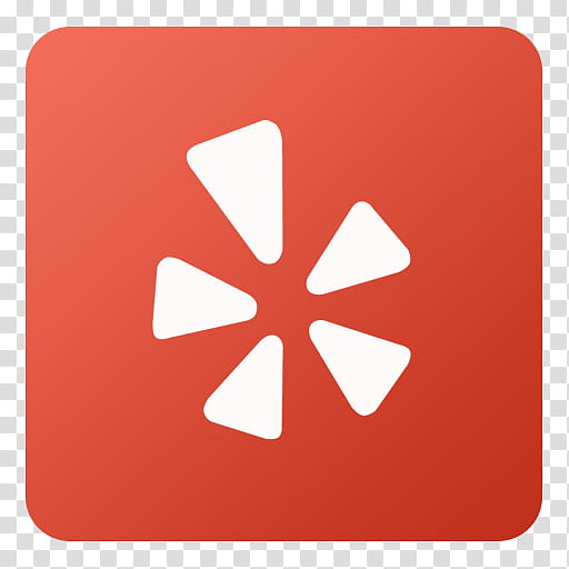 Flat Gradient Social Media Icons, Yelp, red and white icon.