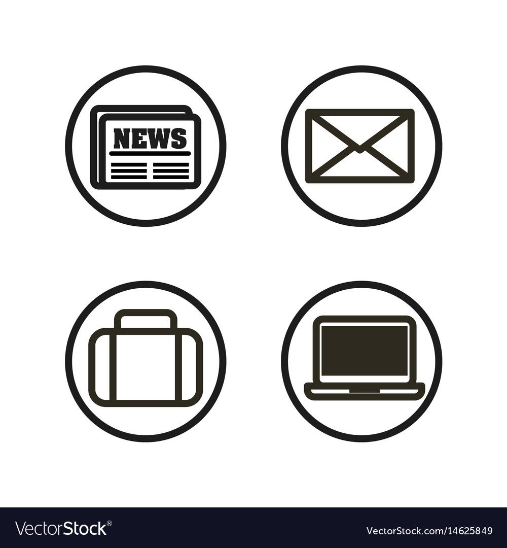 Social media flat icons.