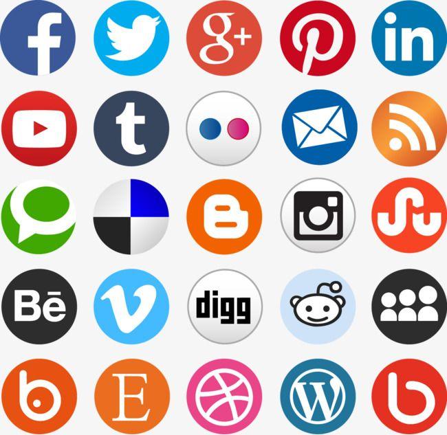 Social Media Mark Icon, Social Media Icons, Social Media.