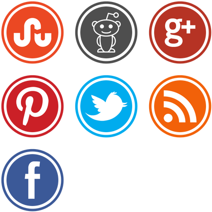 Download HD New Social Media Icons Set Icon Pack By Mohamed.