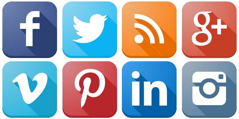 Social Media Icons Vector.
