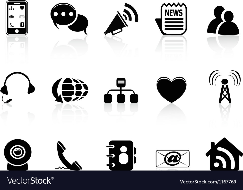 Black Social Media icons set.