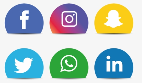 Clip Art Social Media Icons Set.