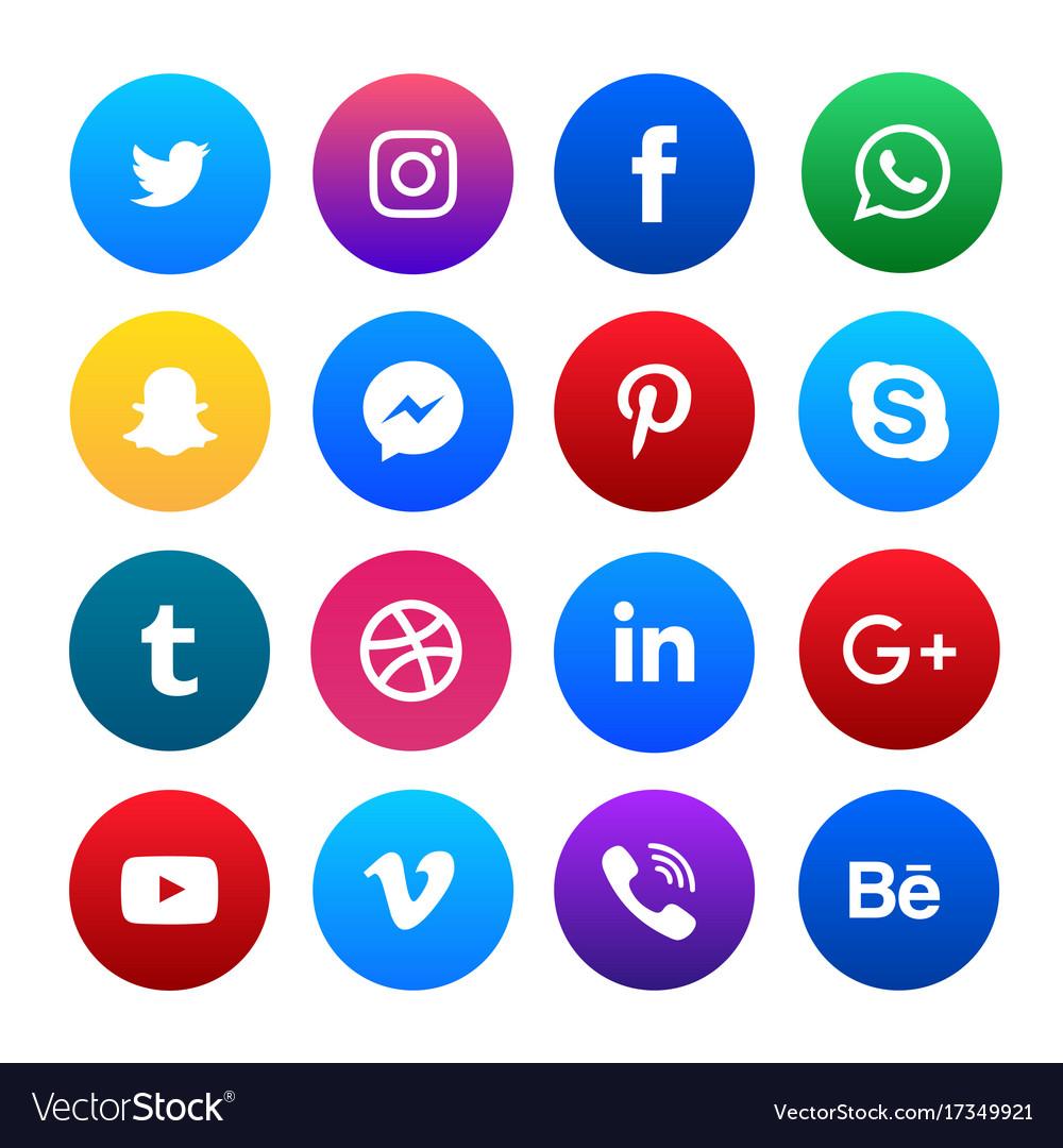 social media vector.
