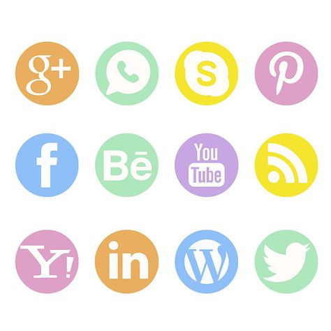 Social Media Icons Clipart Facebook Icon Pinterest Skype.