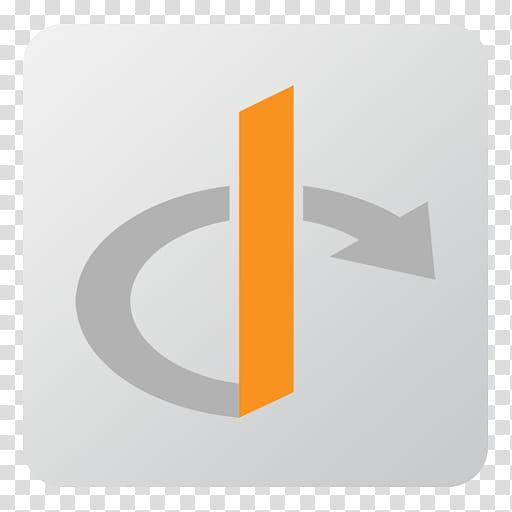 Flat Gradient Social Media Icons, Openid, gray and orange.