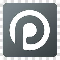 Flat Gradient Social Media Icons, Plaxo, gray and white logo.