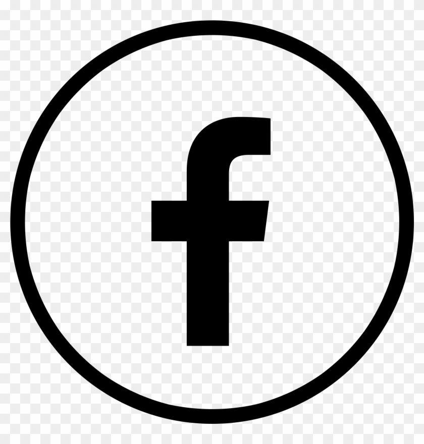 Facebook Logo Circle Black Transparent.
