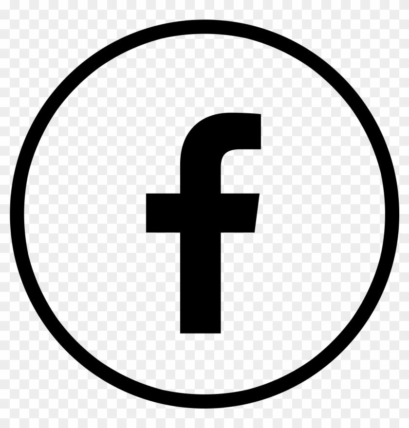 Facebook Logo Circle Black Transparent.