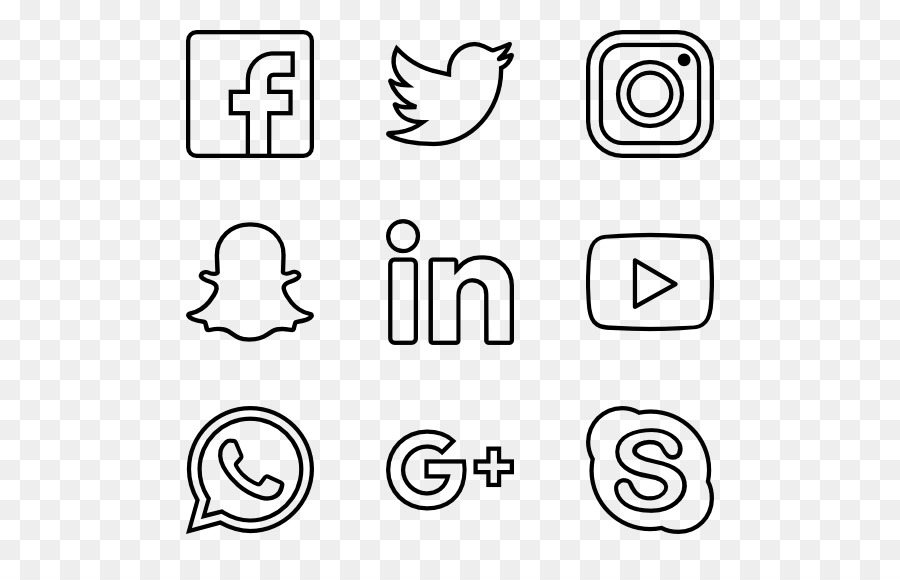 Social Network Icons Png (+).