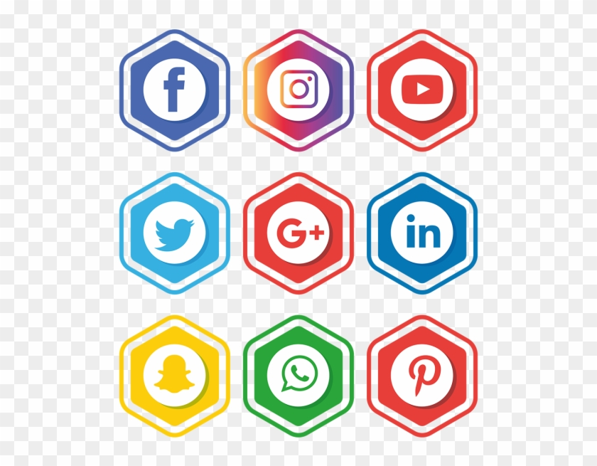 Social Media Icons Illustrator.