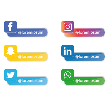 1,754+ Social Media Icons Collection Free Download in PNG.