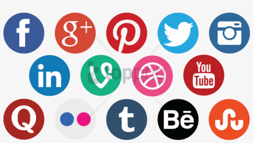 Social Media Icons Png Free Image Transparent.