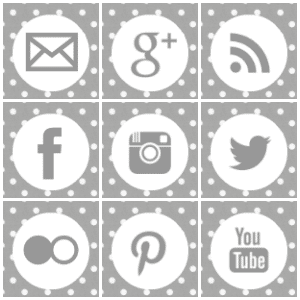 Free grey polka dot square social media icons.