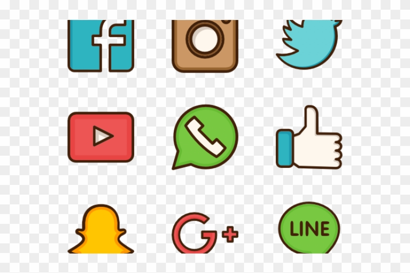 Social Media Icons Clipart Social Networking.