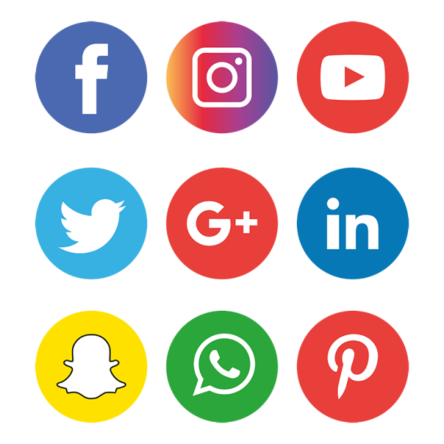 Social Media Icons Set Logo, Social Media Icons, Social.