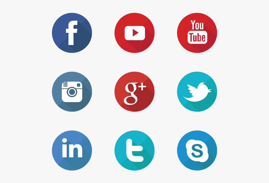 Social Media Icons Round Png, Transparent Png , Transparent.