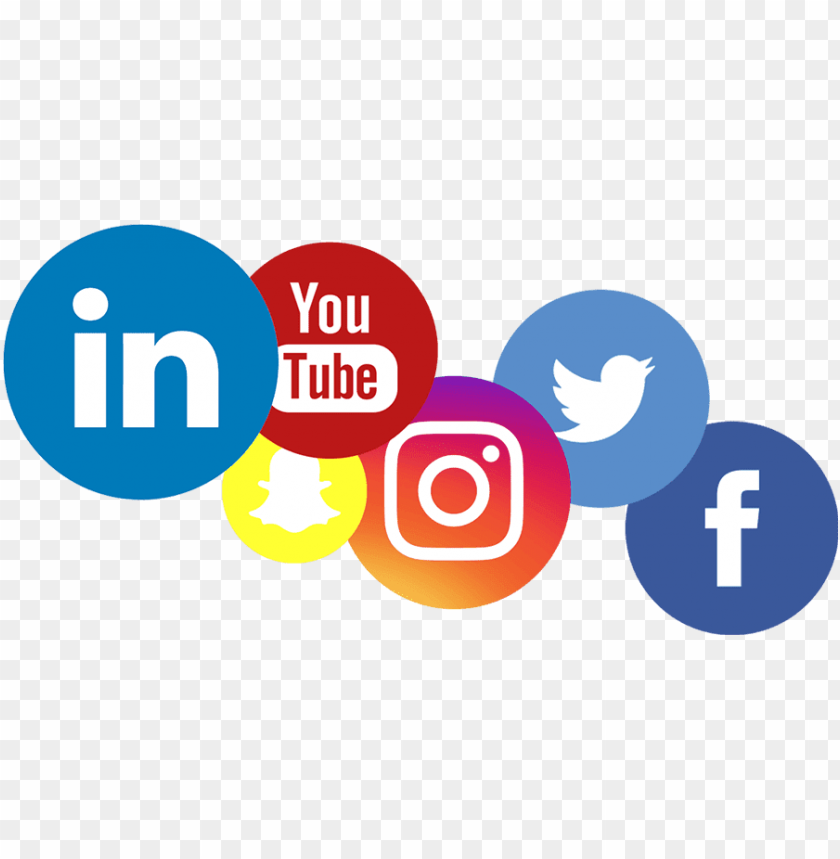 social media logos PNG image with transparent background.