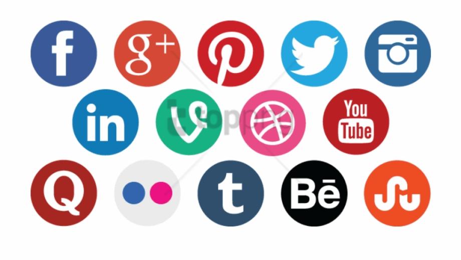 Social Media Logos Png No Background.