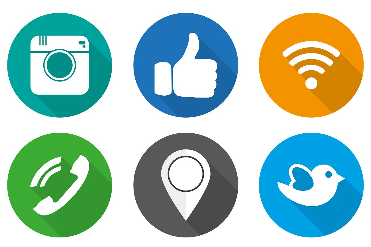 Icons for social networking vector.