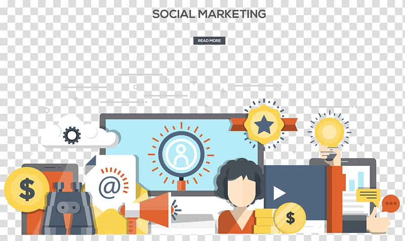 Social marketing , Social media marketing Web banner Flat.