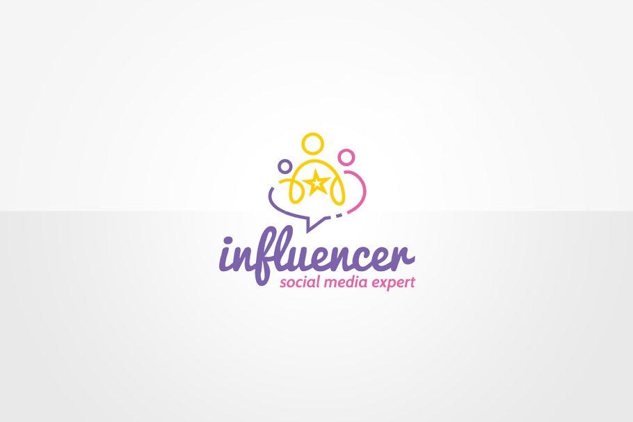 Social Media Marketing Logo Template.