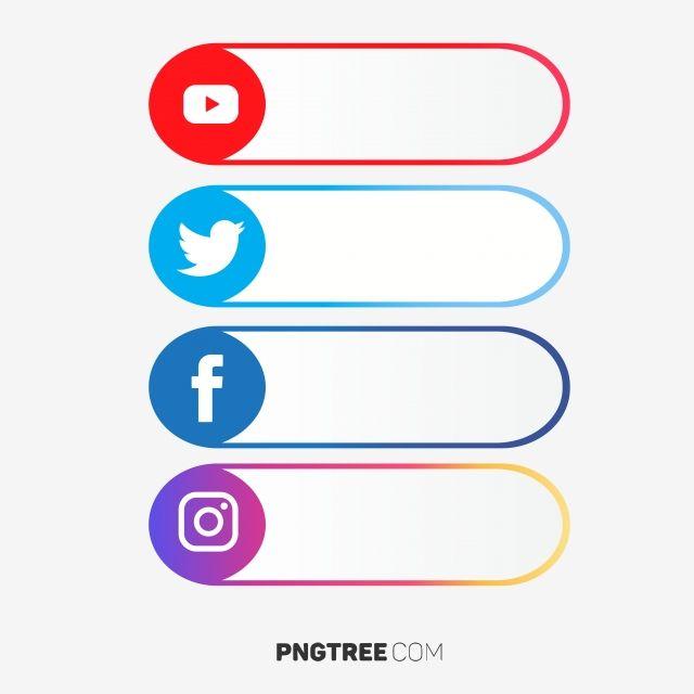 Social Media Label Set, Social Media Icons, Social Media.