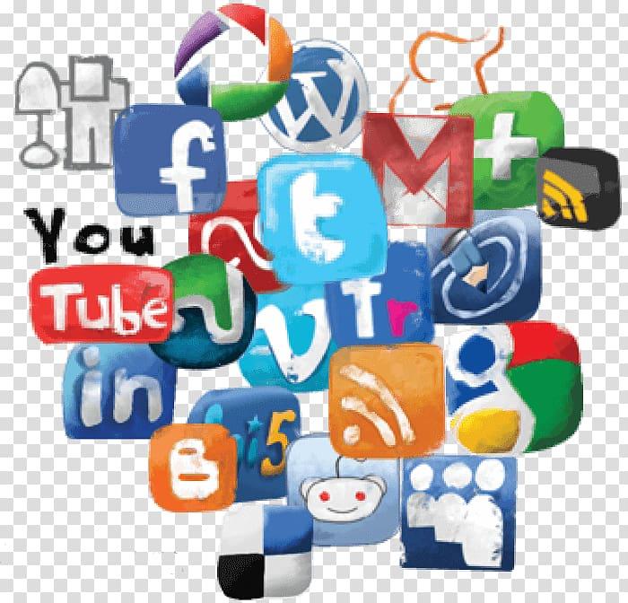Assorted logos , Social media Social network , media.
