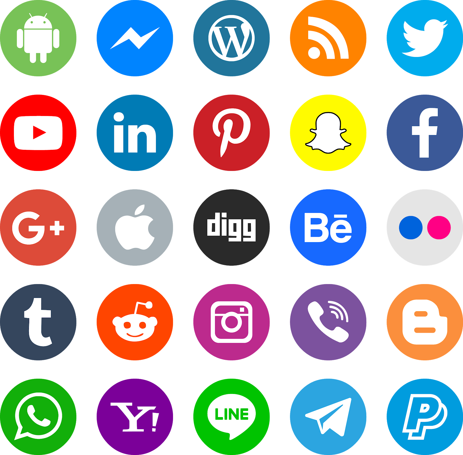 download icons social media color vector svg eps png psd ai.
