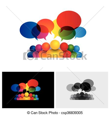 Vector Clipart of social media vector icon of communication or.