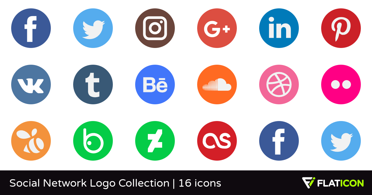 Social Network Logo Collection 15 free icons (SVG, EPS, PSD.
