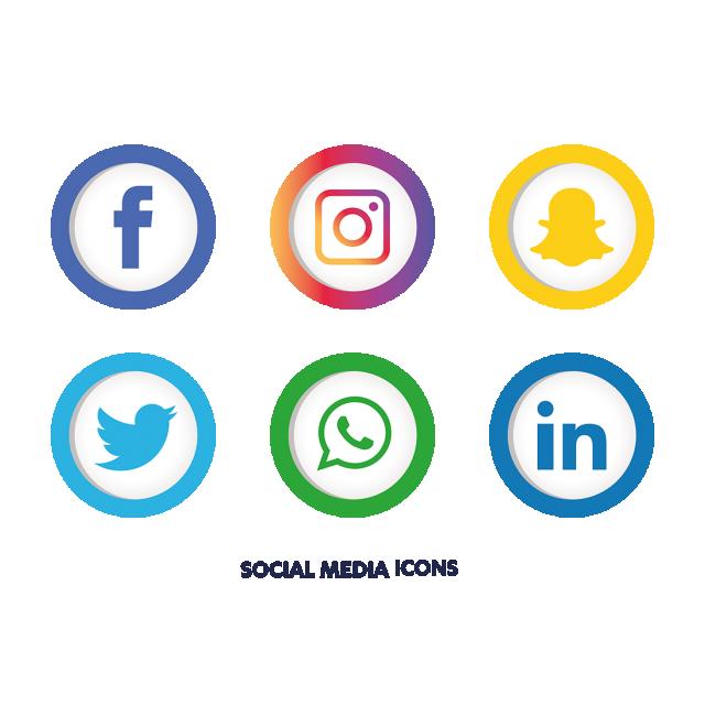 Social Media Icons Set, Social Media Icons, Social Media.