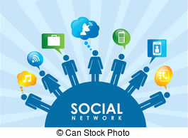Social network Vector Clip Art Illustrations. 108,102 Social.