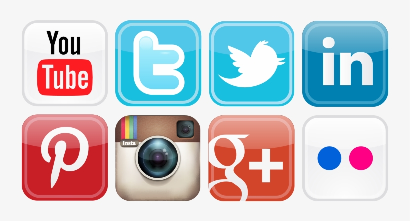 Social Media Icons Png Vector.