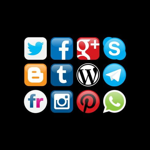 Social Networks Logo Vectors ai file.