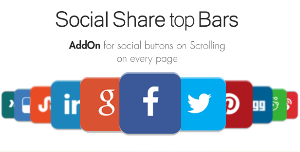 Social Share top Bar AddOn.