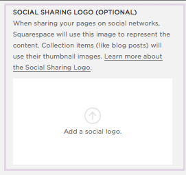 How to add a Social Share Logo on Squarespace.