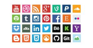 50+ High Quality Free Social Media Icons.