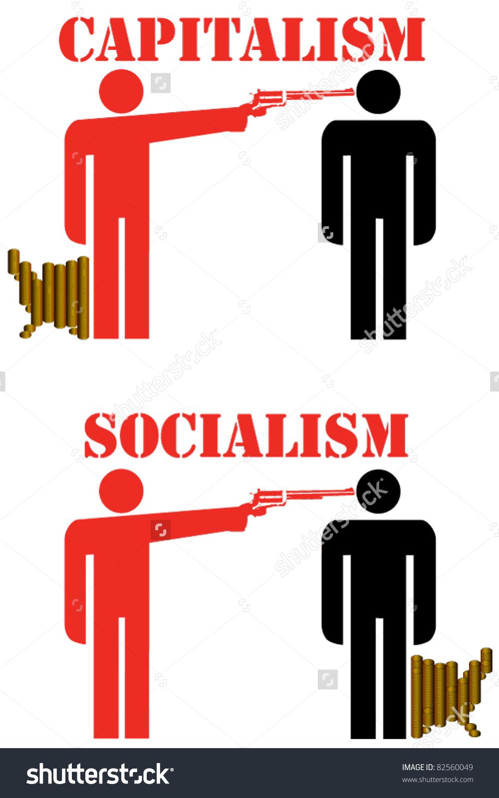 Capitalism Socialism Stock Vector 82560049.