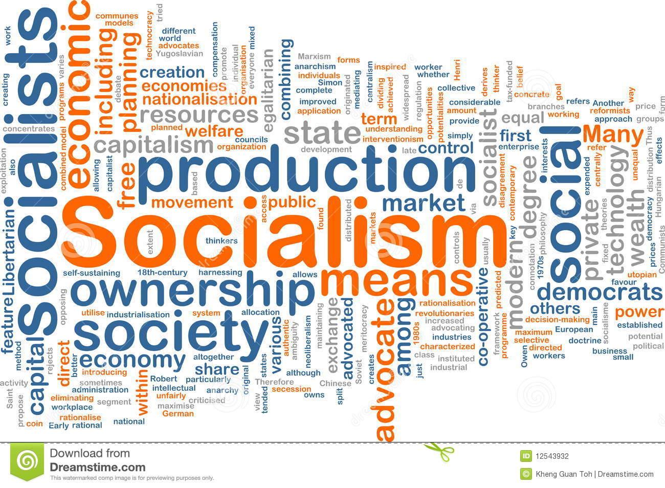 Socialist Economy Clip Art.